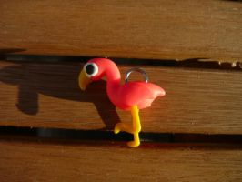 Fluro Flamingo Charm by PhantomxFan