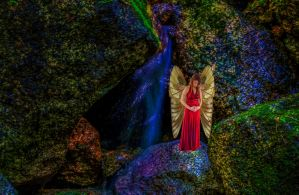 Fairy by Waterfall by Studio5Graphics