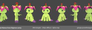 Lowpoly Palmon from Digimon by MightyDargor