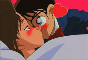 Detective Conan kiss Ran (NY Case snapshot) by black4869