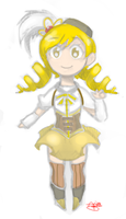 Chibi  Tomoe Mami Sketch (Mouse) by hdgigi