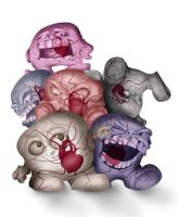 Invertebrated Heart Monsters by gottabecarl