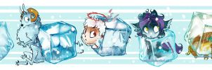 Cute ice cubes by grimzzi
