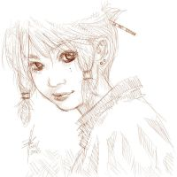 shojo sketch by choobkr