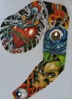 tattoo sleeve  better pic by chrisxart