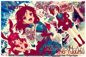 Haruhi Wallpaper:SOS Needs You by CharieAnn