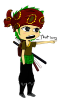 Strong World Zoro by Purrgir