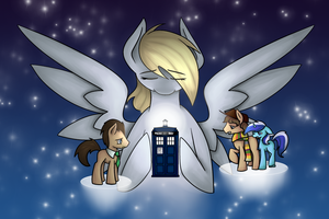 Lined Painting Commission - Doctor Whooves by robynneski
