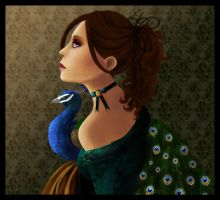 Lady with a peacock by Miriel3