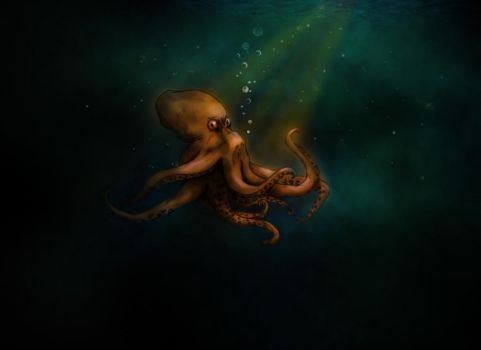 Octopus In Marine Marination by psychedusik