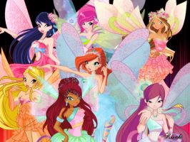 Winx Club Fairies(Harmonix) by KisakiChang