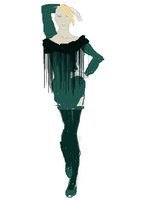 Green and Black Fringe by Autumn-Ellen-Lynn