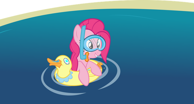 Pinkie and her ducky by Chisella1412