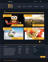Tutorial Website Mockup by sylview