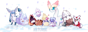 The ice power by MeluuArts