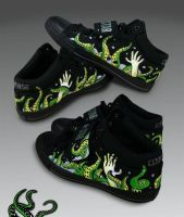 Custom shoes - Tentacles by surfender