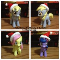 Filly Derpy, Twilight and Fluttershy by Nsomniotic