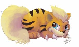 3DS Growlithe by Penny-Dragon