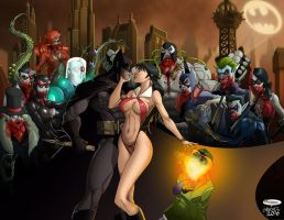 Batman Vampirella - Blood madness by El-Mono-Cromatico