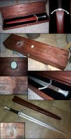 Boromir's sword, sheath, case by Maethori