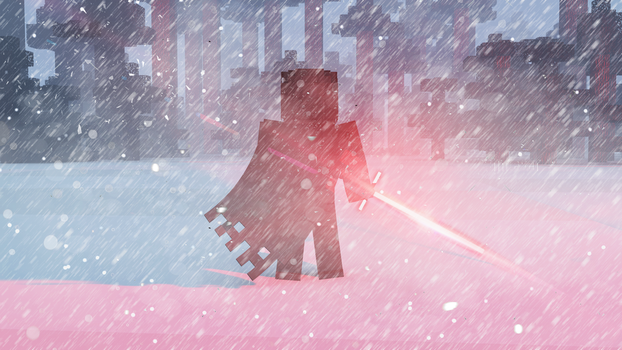 Kylo Ren standing in the snow- Minecraft by Gaming-With-Xerxes
