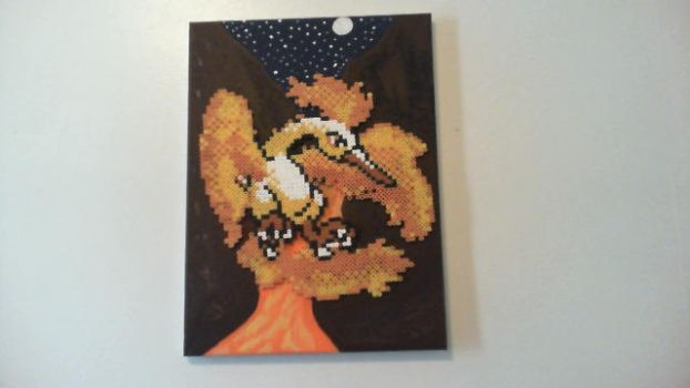 Moltres Perler/Painting by actionprime