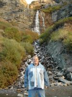 At Bridal Veil Falls by TimpanogosArt