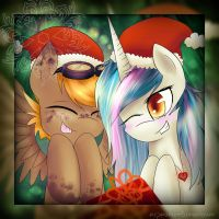 [LC and Dust] - Christmas by EspeonUmbreonLover