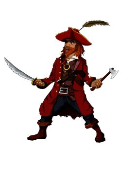 Pirate in vector by DenysR