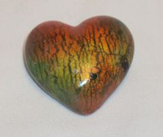 color swirls heart pin by ACrowsCollection