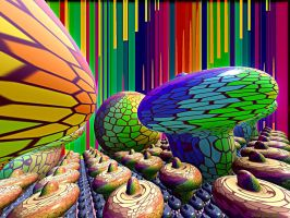 PSYCHEDELIC  MUSHROOMS by DorianoArt