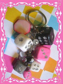 Dice Keychain by agscsecret
