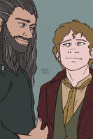 Commish - Bilbo and Thorin by kamidoodles