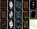 Tron Legacy Deck Face Card Contact Sheet by TMC-INK