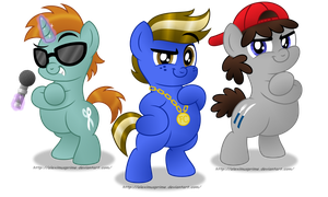 Commission:  The Fat Colts by AleximusPrime