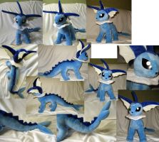 Vaporeon plushie by Rens-twin