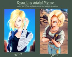 draw this again: Android 18. by Kaizoku-hime