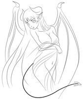 Succubus Lineart by xOniHime