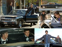 Dean, Sam ... and the Impala by MandarbShadarLogoth