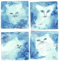 Blue Cats by liselotte-eriksson