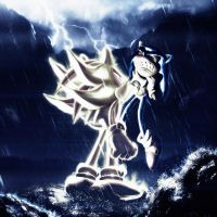 Sonic and bad Super Shadow by Zlydoc