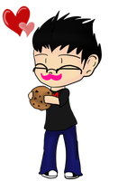 Mark loves his cookie by DarkDreamingBlossom