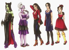 Young Villainesses by CarmenFoolHeart