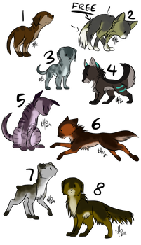 Free adoptables by KdaPoetWarrior