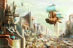 City in the morning by 2lua