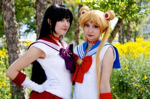 Sailor Mars and Moon Fan Expo 2014 #3 by Lightning--Baron