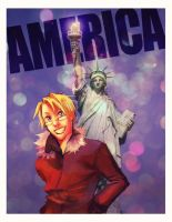 America .postcard. by cheesynoodle
