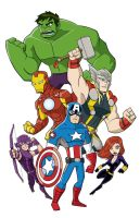 Avengers - The BIg Six by natexopher