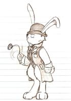 The white rabbit: sketch by evill33tchaos
