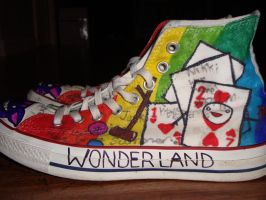 Alice in Wonderland Shoes: 7 by underneath-the-paint